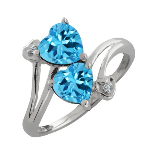 2.01 Ct Genuine Heart Shape Swiss Blue Topaz