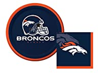 Denver Broncos Dessert Napkins & Plat…