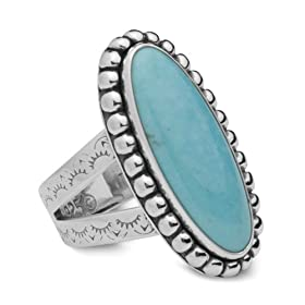 Sterling Silver Split Shank Turquoise Ring For Constant Luck