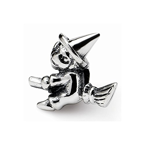 Reflection Beads Sterling Silver Small Witch Bead (11x12 mm)
