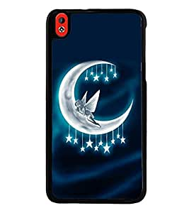 printtech Moon Fairy Stars Back Case Cover for HTC Desire 816::HTC Desire 816 G