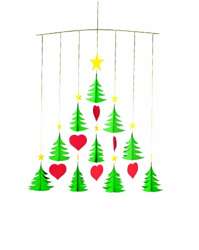 Flensted Mobiles Nursery Mobiles, 10 Christmas Trees