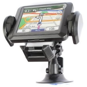 GPS and Phone Car Holder with Small Picture Frame Slot. Works with iPhone, Blackberry, MP3 Players and GARMIN NUVI