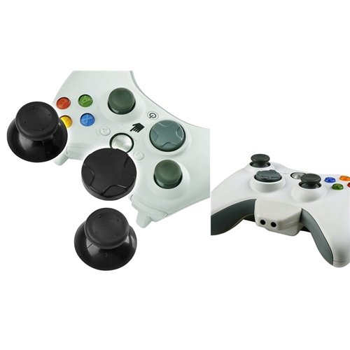 Everydaysource® Compatible With Microsoft Xbox 360 / Xbox 360 Slim Controller Thumb 2 X Joysticks, 1 X D-Pad + Headset Converter Adapter