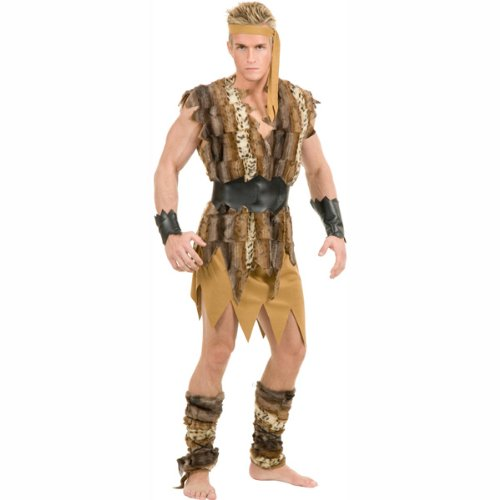 Cool Caveman Adult Plus Costume (Men's Adult Costume)