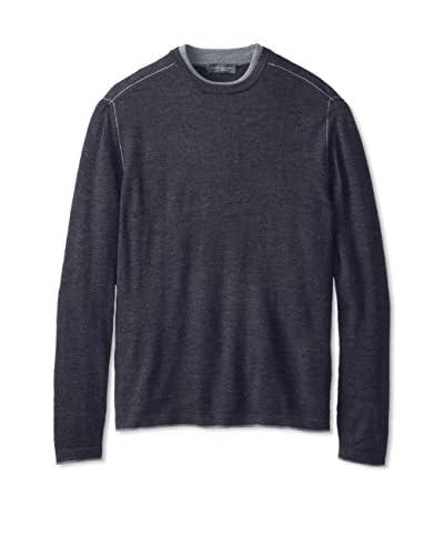 Robert Barakett Men's Terrence Double Crew Merino Sweater