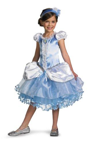 Disguise Girl's Disney Cinderella Tutu Prestige Costume, 3T-4T