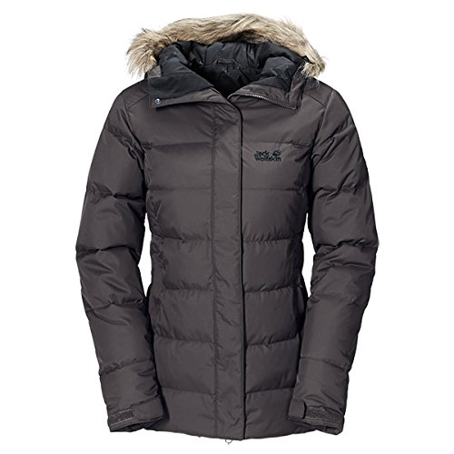 Jack Wolfskin Damen Daunenjacke Baffin Jacket Women, Dark Steel, M, 1200542-6032003