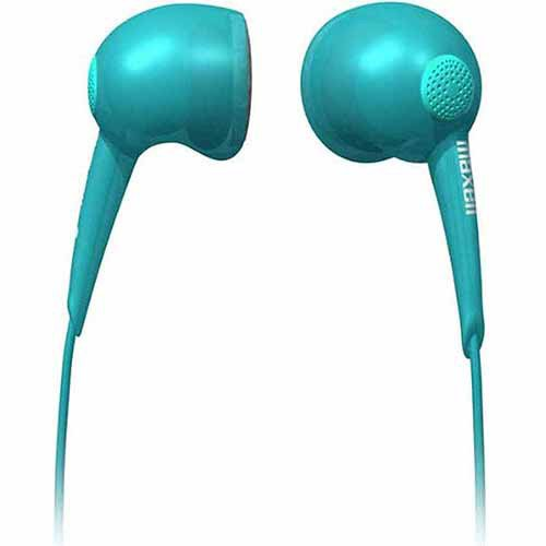 Maxell Jelleez Stereo Earbuds, Caribbean Blue