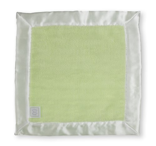 Swaddledesigns Baby Lovie Security Blanket - Kiwi Fuzzy With Barely Ivory Satin front-278902