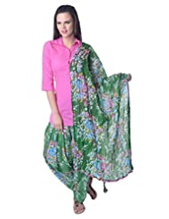 Vastra Vinod Pink Solid Cotton Kurti