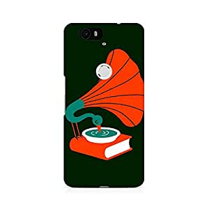 Motivatebox- Music Peacock Premium Printed Case For Huawei Nexus 6P -Matte Polycarbonate 3D Hard case Mobile Cell Phone Protective BACK CASE COVER. Hard Shockproof Scratch-