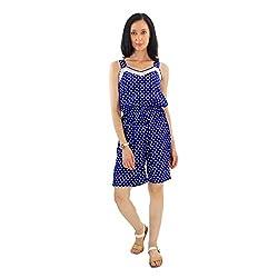 Good Fashion Printed short Blue Jumpsuit