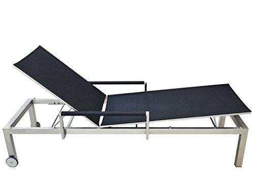 CUBE Liege Sonnenliege Sit Mobilia Edelstahl Textilene Schwarz günstig bestellen
