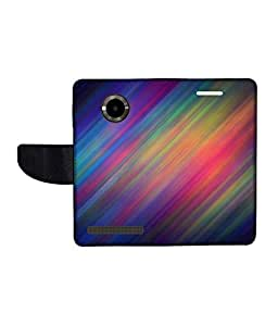 KolorEdge Printed Flip Cover For Micromax Yu YuPhoria Multicolor - (1478-50KeMLogo11991MmxYuPhoria)