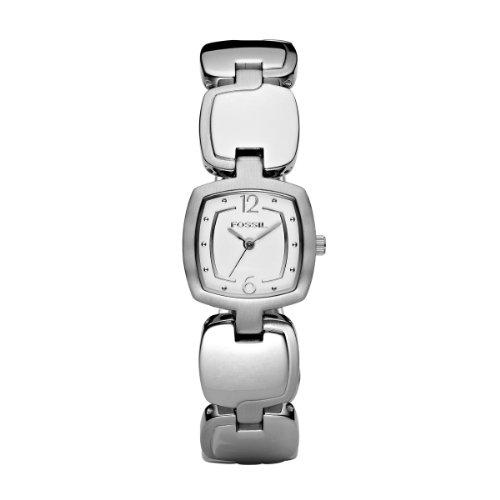 Fossil ES2212 - Orologio da polso da donna, cinturino in acciaio inox colore argento