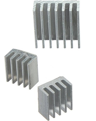 3pcs Adhesive Aluminum Heat Sink Cooler Kit For Cooling Raspberry Pi (Fx Water Cooler compare prices)