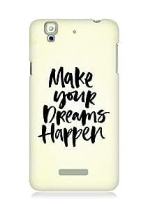 AMEZ make your dreams happen Back Cover For YU Yureka
