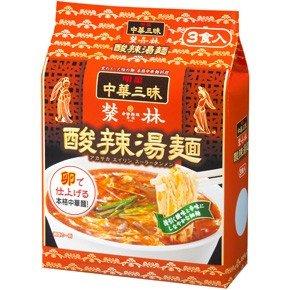 明星 中華三昧 赤坂榮林(エイリン)酸辣湯麺スーラータンメン 3食パック 8袋入(24食)