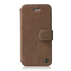 【日本正規代理店品】zenus iPhone5S/5ケース イタリアン本革 Prestige Vintage Leather Diary  ヴィンテージブラウン ダイアリータイプ ストラップ付 本革 Z1399i5