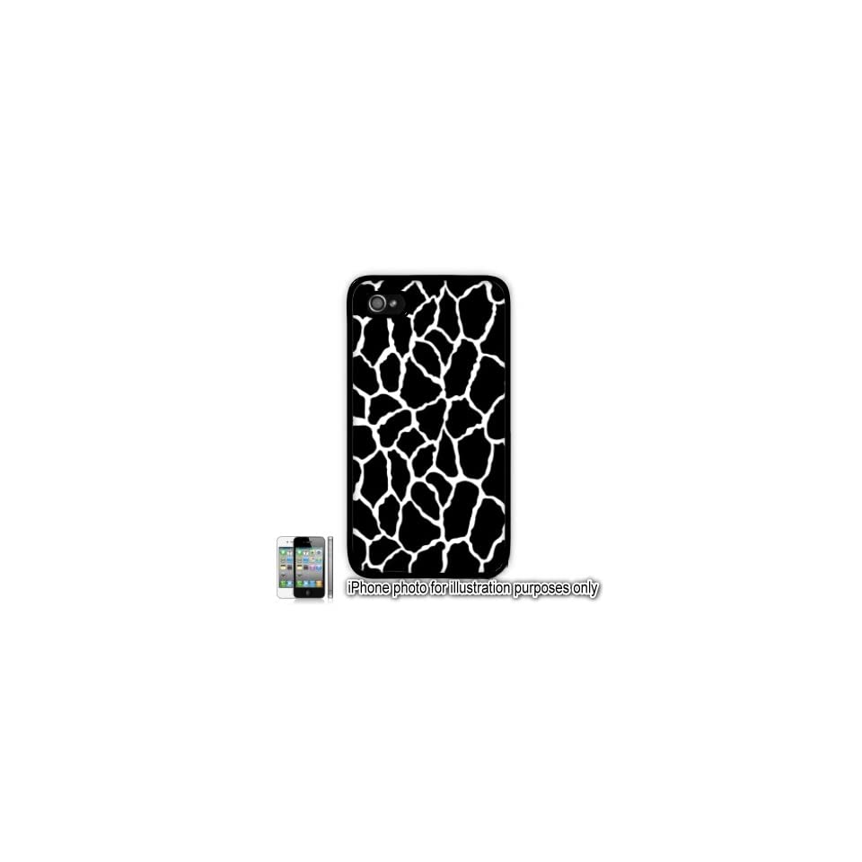 Black Giraffe Animal Print Pattern Apple iPhone 4 4S Case Cover Skin Black