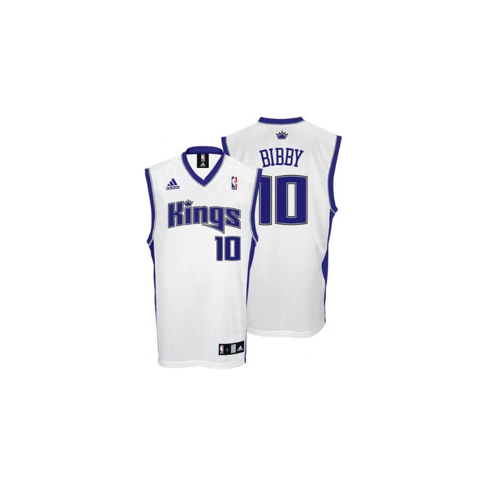Mike Bibby Youth Jersey adidas White Replica #10 Sacramento Kings Jersey