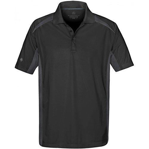Stormtech Mens Two Tone Short Sleeve Lightweight Polo Shirt (2Xl) (Black/Graphite)
