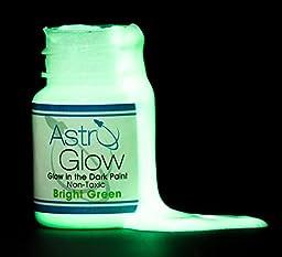 Astro Glow Non-Toxic Glow in the Dark Paint, 0.54 oz,  Light Green