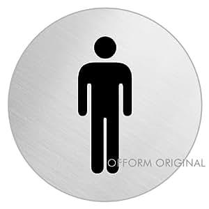 Ofform Stainless Steel Door Sign In Restroom Men Home Kitchen