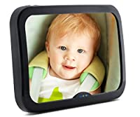 Baby Mirror For Car| Baby Car Mirror Helps keep an Eye on your Rear Facing Infant | Back Seat Mirror is Wide, Convex,Clear View, Shatterproof and Adjustable | Car Seat Mirror By Enovoe from Enovoe