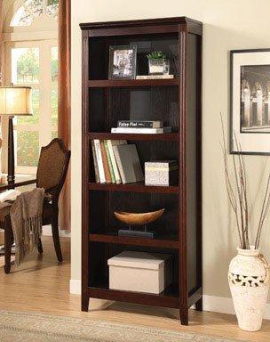 Linon Home Decor 80166ESP 01 KD 5 Shelf Bookcase Espresso Finish