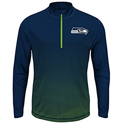 Seattle Seahawks Intimidating Half Zip Pullover Synthetic Windshirt
