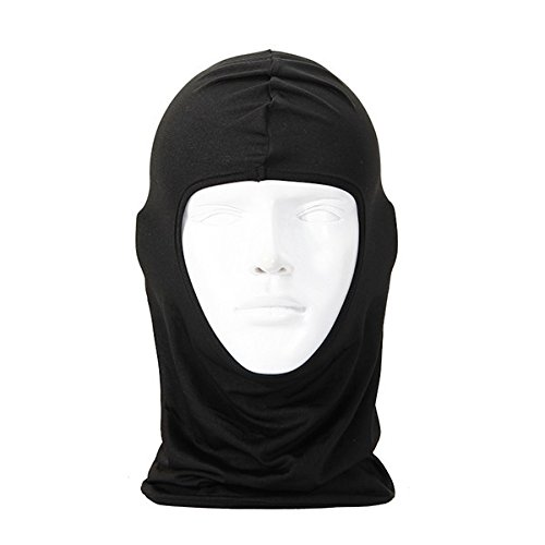 Breathable Anti-UV Motorcycle Balaclava Full Face Mask Multifunctional Thin Cycling Bicycle Riding Mask Beanie Hat Cap Scarf Hood Police Swat Ski Bike Windproof Mask Black (Pictures Of Cool Thin compare prices)