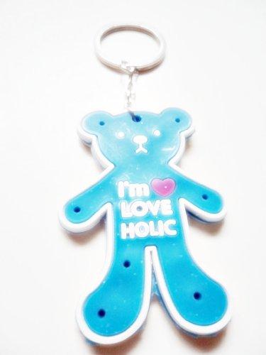 1x Double Sided Blue I'm Love Holic Teddy Bear