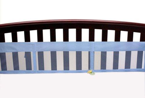 NoJo Secure-Me Soild Mesh Crib Liner, Blue (Discontinued by Manufacturer)