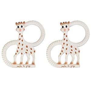 Sophie The Giraffe Teething Ring - pack of 2 in gift box