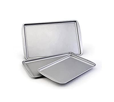 Farberware 46404 Nonstick Bakeware 5 Piece Baking Pan Set, Gray