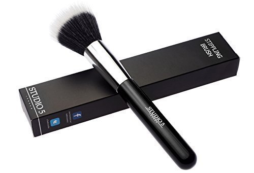 Studio 5 Cosmetics Stippling Brush - High quality Duo Fiber Brush - Pennello Stippling / Stipple - Pennello di Alta Qualità Duo Fiber
