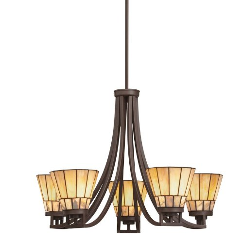 B004HI01BE Kichler Lighting 66054 5 Light Morton Chandelier, Olde Bronze