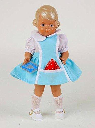Schildkröt puppe Inge, 25 cm, blond, im türkisfarbenen Trägerkleidchen