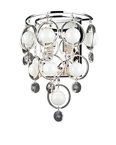 Lite Source Bubbles 12-Light LED Sconce, Chrome