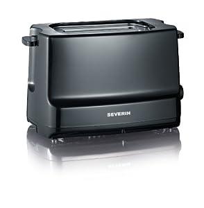 Severin Automatic 2-Slice Toaster, 800 Watt, Black from SEVERIN