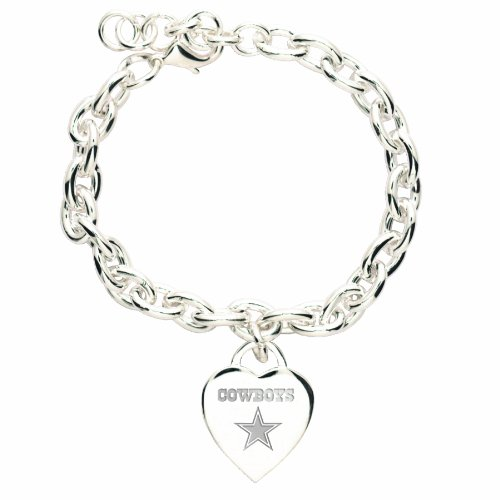 NFL Dallas Cowboys Heart-Charm Bracelet at Amazon.com