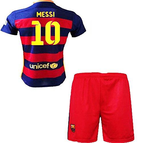 ... Barcelona Kids Jersey 20152016 FC 10 Messi home football soccer polo  shirt shorts socks . a5b68af52