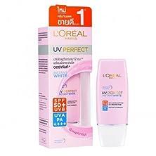 buy L'Oreal Paris Uv Perfect Facial Sunscreen Cream Instant White Spf 50+/ Pa++++ Size 30 Ml.