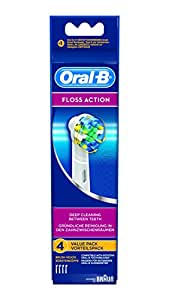 Oral-B Floss Action Electric Toothbrush Replacement Heads - 4 Counts