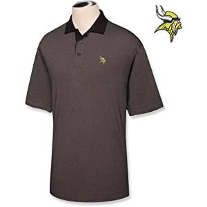 Cutter & Buck Minnesota Vikings Big & Tall DryTec Birdseye Polo by Cutter & Buck