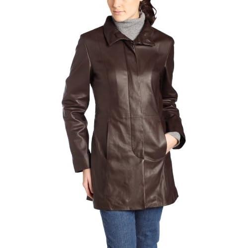 Cole Haan Women's Leather Car Coat at Amazon Women's Coats Shop