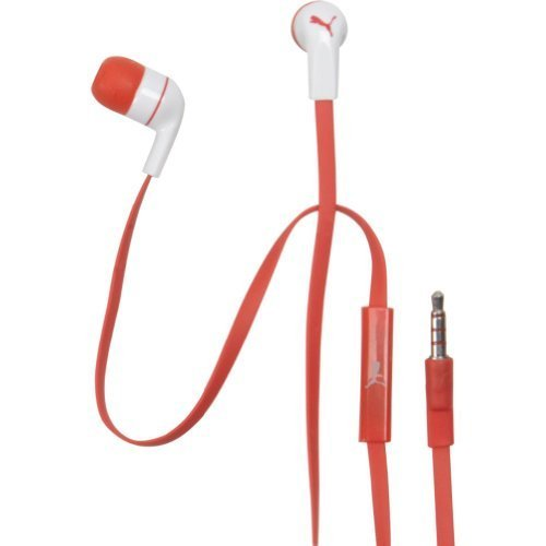 Puma Social Earbuds + Mic (Red)