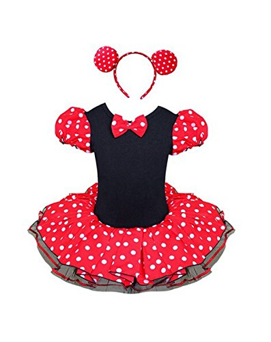 Bingbon MINNIE MOUSE Polka Dots Costume With Headband Girl Baby Halloween Tutu Skirt